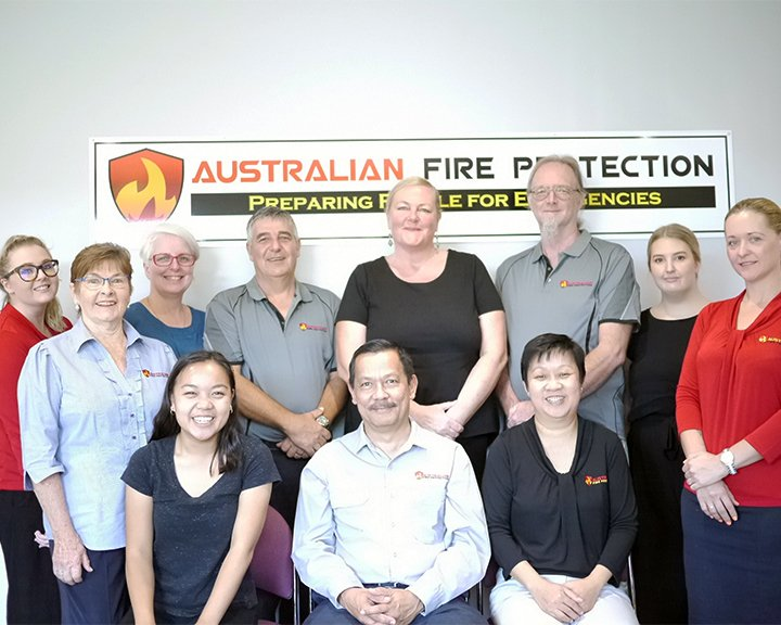 staff photo at Australian Fire Protection