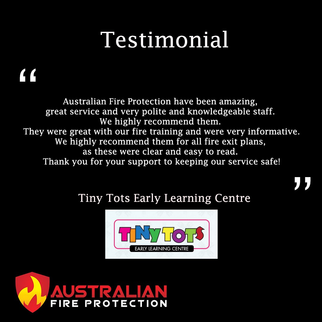 Testimonial from tiny tots early learning centre