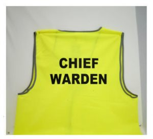 Chief Warden Vest Yellow