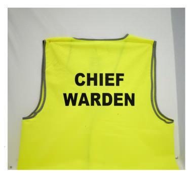Chief Warden Vest Yellow