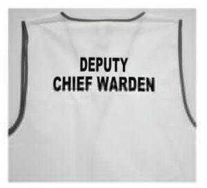 deputy chief warden vest